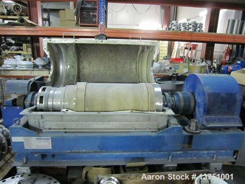 Used-Sharples DSNX-4230 Super-D-Canter Centrifuge. (Unit is similar/identical to PM-35000.) Stainless steel construction on ...