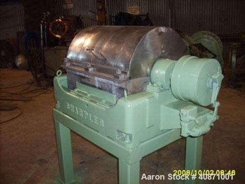 Used-Sharples P-2000 Super-D-Canter Centrifuge. 316 stainless steel construction on product contact areas, max bowl speed 32...