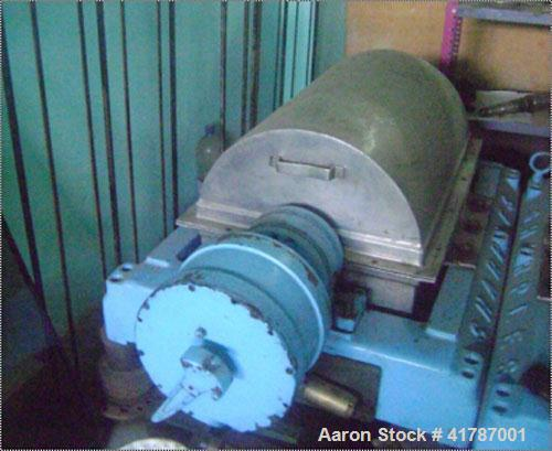 Used-Sharples P-2000 Super-D-Canter Centrifuge, stainless steel construction, base, casing, gearbox. (Unit reportedly has ne...