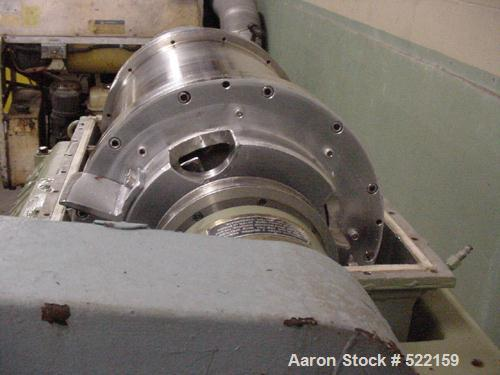 "USED: Sharples P-2000 Super-D-Canter centrifuge. Stainless steelconstruction on product contact areas, 2"" single lead convey..."