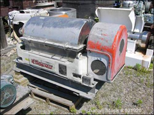 USED: Sharples P-3000 Super-D-Canter centrifuge. Max bowl speed4000 rpm, 316 stainless steel construction on product contact...