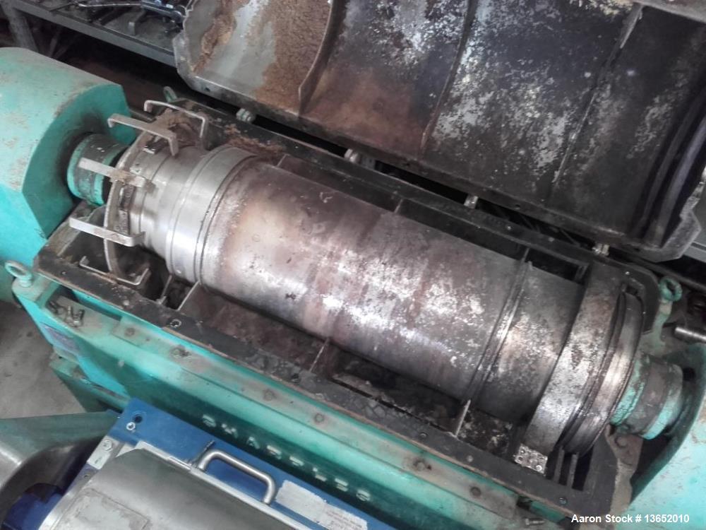 Used- Sharples Pennwalt P-3400 Super-D-Canter Centrifuge.