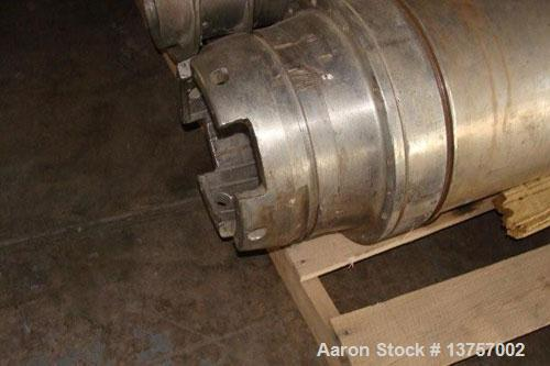 "Used- Sharples P-3400 Super-D-Canter centrifuge, stainless steel construction, 4.25"" single lead conveyor with welded hardfa..."