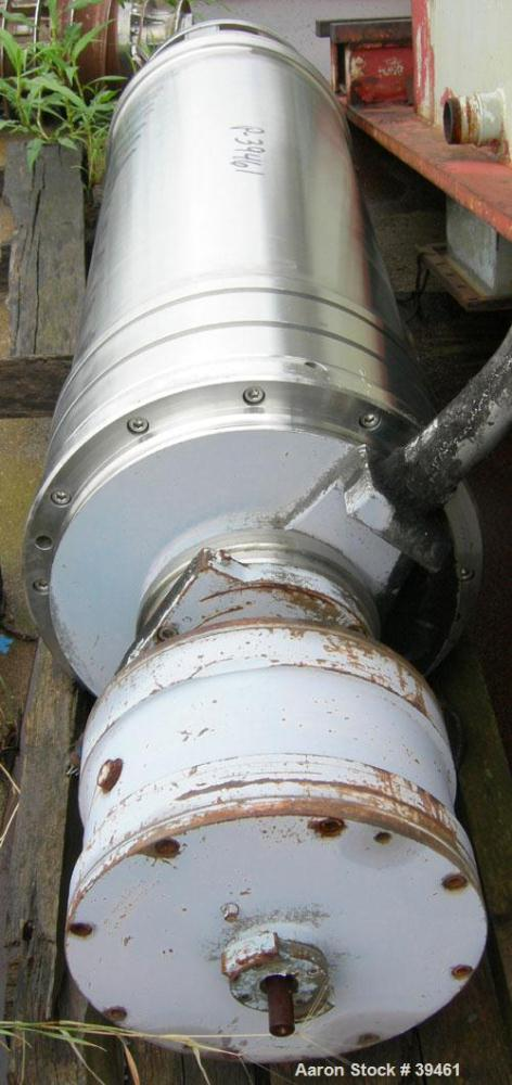 Used- Sharples P-3400 Super-D-Canter Centrifuge. 2 Phase or 3 phase separation design (presently has plugs in the 3rd phase ...