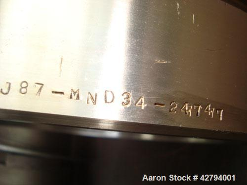 Used-Sharples P-3400 Super-D-Canter Centrifuge, stainless steel construction (product contact areas). Max bowl speed 4000 rp...