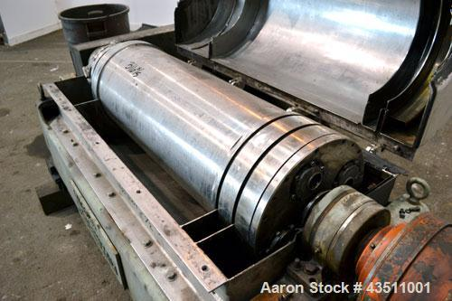 Used-Sharples P-3400 Super-D-Canter Centrifuge. 316 Stainless steel construction on product contact areas. Maximum bowl spee...