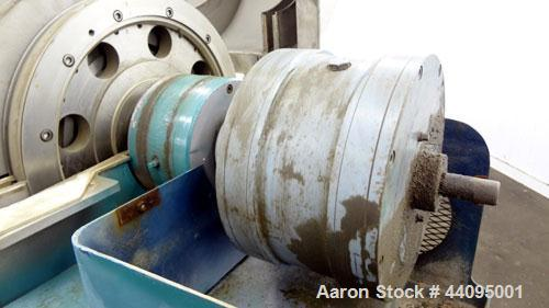 Used- Sharples P-3400 Super-D-Canter Centrifuge. 316 Stainless steel construction (product contact areas), maximum bowl spee...
