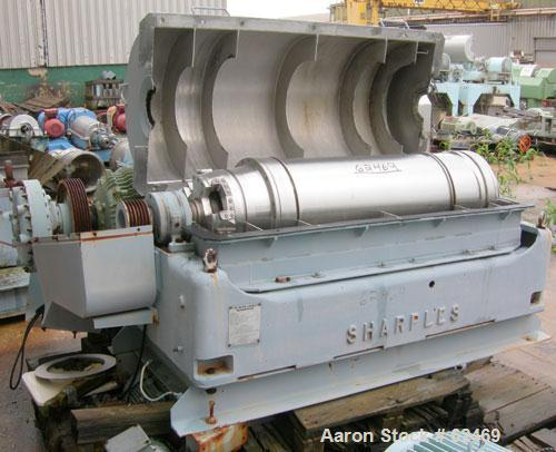 USED: Sharples P3400 Super-D-Canter centrifuge. 316 stainless steel construction on product contact areas. Max bowl speed 40...