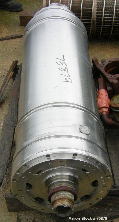 """Used:Sharples P-3400 Super-D-Canter Bowl assembly, 316 stainless steel. 4.25"""" pitchsingle lead conveyor with STC tiles, (mis..."""