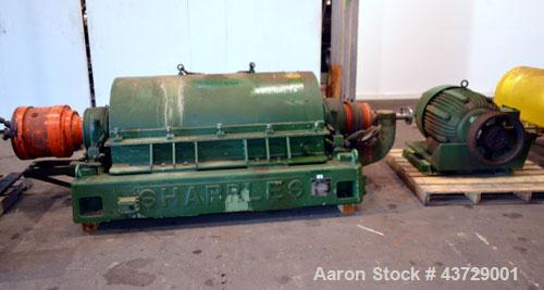 "Used-Sharples P-4600 Super-D-Canter Centrifuge. 317 Stainless steel construction (Product contact areas). 3000 RPM, 5"" singl..."