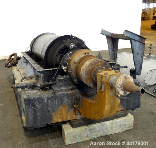 Used- Sharples P-5000 Super-D-Canter Centrifuge. 316 Stainless steel product contact areas. Maximum bowl speed approximate 3...