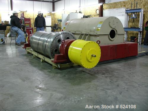 USED: Sharples P-5000 Super-D-Canter centrifuge. 316 stainless steel construction, max bowl speed 3000 rpm, single conveyor,...