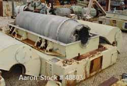 USED: Sharples P-5400 Super-D-Canter Centrifuge. 316/317 stainless steel construction. Max bowl speed 2700 rpm, small bolt p...