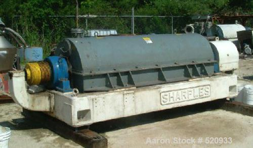 USED: Sharples P-5400 Super-D-Canter centrifuge, stainless steel construction on product contact areas. Max bowl speed 3000 ...