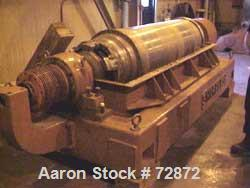 USED: Sharples P-5400 Super-D-Canter centrifuge, 316 stainless steelconstruction (product contact areas), small bolt pattern...