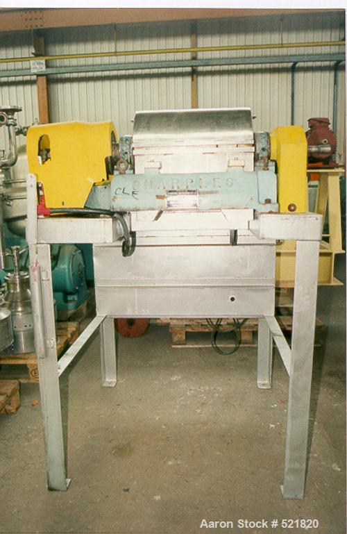 Unused-Reconditioned: Sharples P-600 Super-D-Canter centrifuge, 316stainless steel construction on product contact areas. Ma...