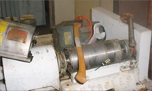 Used-Sharples P-660 Super-D-Canter Centrifuge. Stainless steel construction (product contact areas), max bowl speed 6000 rpm...