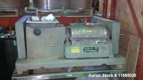 Used- Sharples P-660 Super-D-Canter Centrifuge. Stainless Steel construction (product contact areas), max bowl speed 6000 rp...