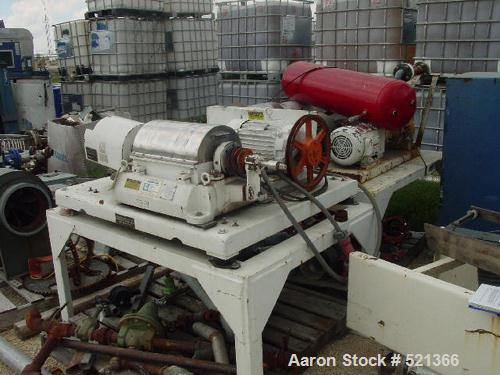 USED: Sharples P-660 Super-D-Canter centrifuge, 316 stainless steel construction on product contact areas. 5 hp main drive, ...