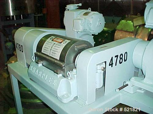 Unused-Reconditioned: Sharples P-660 Super-D-Canter centrifuge, 316stainless steel construction on product contact areas. Ma...