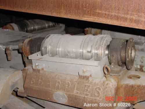 """USED: Sharples P-660 Super-D-Canter centrifuge, 316 stainless steel. Maximum bowl speed 6000 rpm, 1"""" single lead conveyor wi..."""