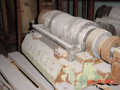 "Used- Sharples P-660 Super-D-Canter Centrifuge, 316 Stainless Steel. Maximum bowl speed 6000 rpm, 1"" single lead conveyor wi..."