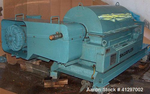Used-Sharples P-3000-NE Super-D-Canter Centrifuge. 316 stainless steel construction on product contact areas, contour design...
