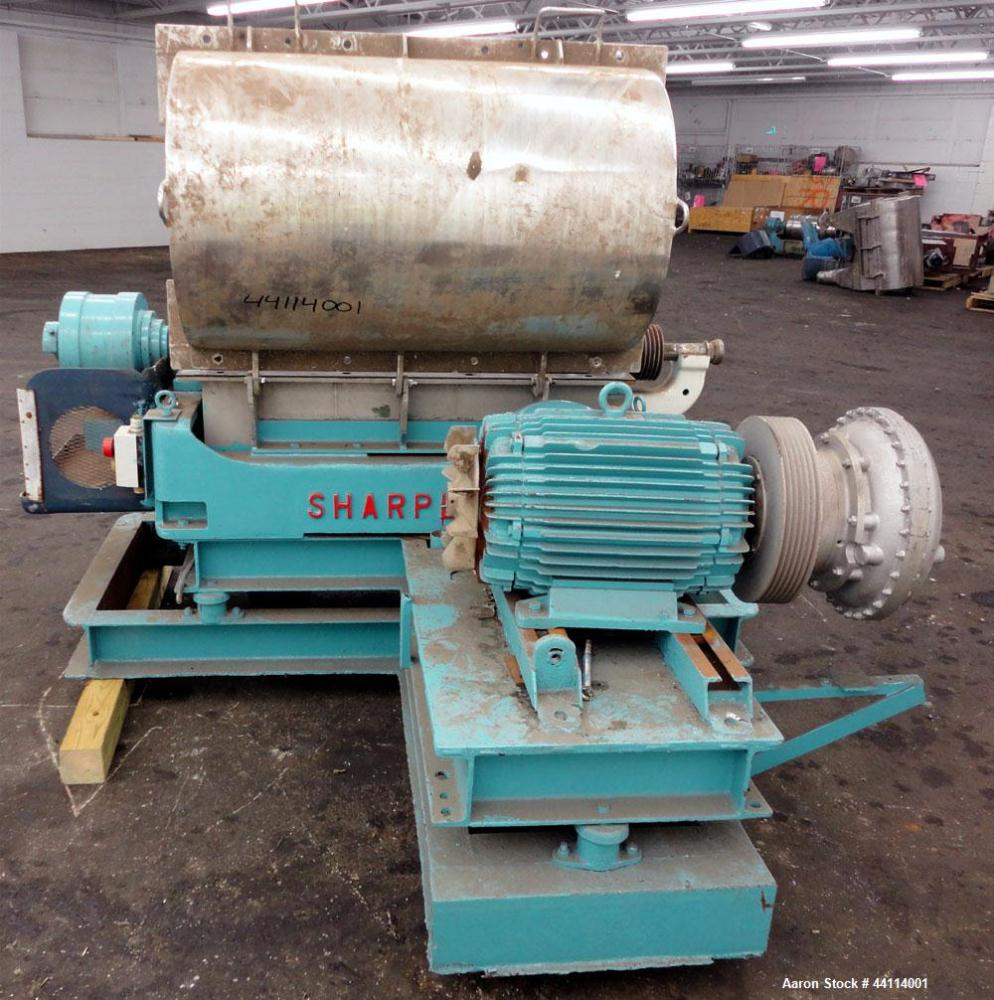 Used- Sharples P-3000 Super-D-Canter Centrifuge. 316 Stainless steel construction (product contact areas), maximum bowl spee...