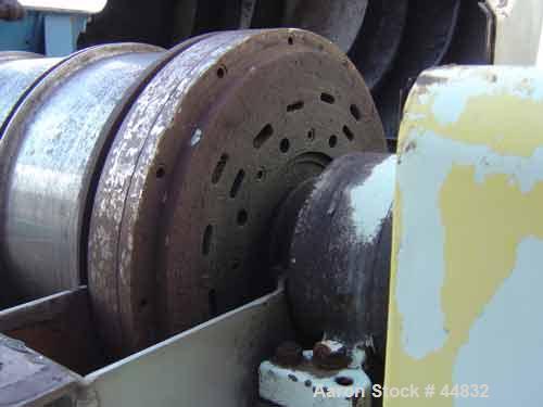 """USED: Sharples p-3000 Super-D-Canter centrifuge, 316 S/S. Cylinder design, 3"""" single lead conveyor, side cake discharge port..."""