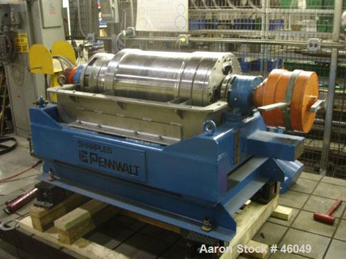 Reconditioned: Sharples P-3000 Super-D-Canter Centrifuge, 316 stainless steel construction (product contact areas), max bowl...