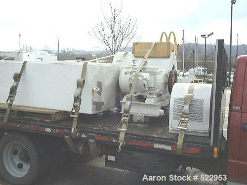 "USED: Sharples decanter centrifuge, model P3000. Max bowl speed 4000rpm, 3180 Gs. EPDM seals, 4.25"" single lead stellite til..."