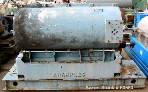 USED: Sharples P3400 Super-D-Canter centrifuge, 316 stainless steel construction on product contact areas. Max bowl speed 40...