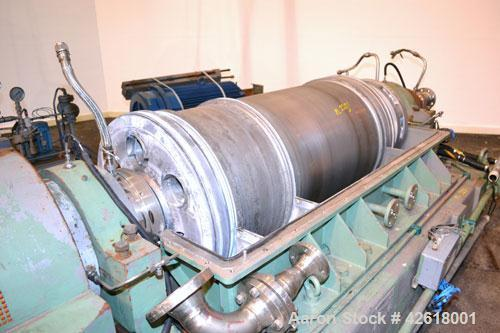 Used-Sharples P-5000 Super-D-Canter Centrifuge. 2205 Stainless steel construction (product contact areas), maximum bowl spee...