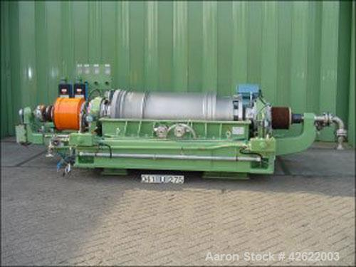 Used- Sharples P-5000 Super-D-Canter Centrifuge, stainless steel construction (product contact areas), max bowl speed 3000 r...
