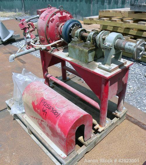 Used- Sharples P-5400 Super-D-Canter Centrifuge, 316/317 stainless steel construction on product contact areas, maximum bowl...