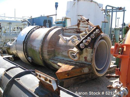 USED: Sharples P-6000 vertical pressuretite Super-D-Canter centrifuge, 316/317 stainless steel construction. Max bowl speed ...