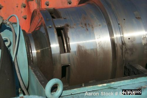 """USED: Sharples P7500T Super-D-Canter solid bowl centrifuge. 400 hp, 4160V, 25'4"""" long, 11'9"""" wide, 61"""" high, 35 t/h capacity..."""