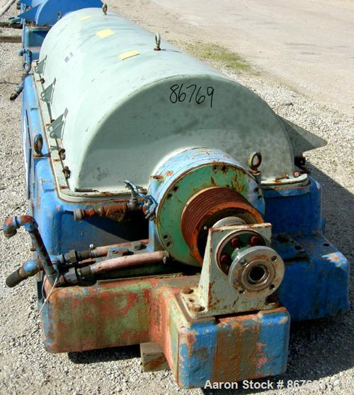 USED- Sharples PC-81000 Super-D-Canter Centrifuge, 304 Stainless Steel Construction on Product Contact Areas. Max bowl speed...