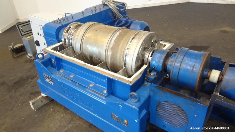 Used- Sharples PM-20000 Super-D-Canter Centrifuge. 316 Stainless steel construction (product contact areas), maximum bowl sp...
