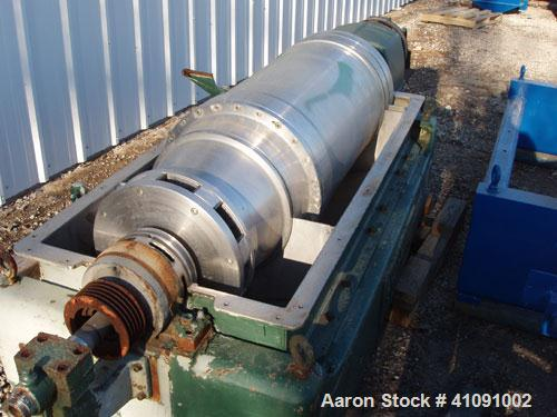 Used-Sharples PM-35000 Super-D-Canter Centrifuge. 316 stainless steel construction (product contact areas), max bowl speed 3...