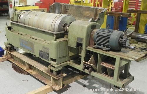Used- Sharples PM-35000 Super-D-Canter Centrifuge, Type PR392-485448, 316 Stainless Steel Construction (Product Contact Area...