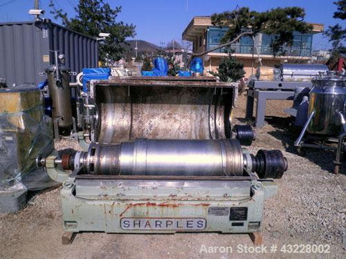 Used- Sharples PM-35000 Super-D-Canter Centrifuge. 304 Stainless steel construction (product contact areas), maximum bowl sp...