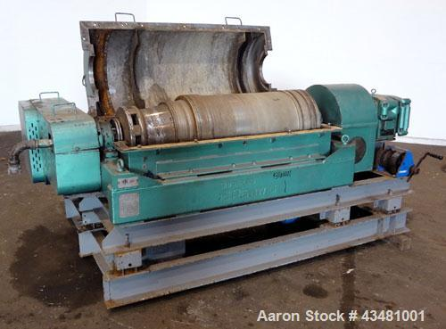 Used- Sharples PM-35000 Super-D-Canter Centrifuge. 316 Stainless steel construction on product contact areas. Maximum bowl s...