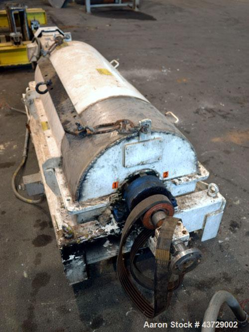 """Used- Sharples PM-35000 Super-D-Canter Centrifuge. 316 Stainless steel construction (Product contact areas),3250 RPM, 5.5"""" s..."""