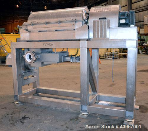 "Used- Sharples PM-35000 ""Semi-Sanitary"" Super-D-Canter Centrifuge. 2205 Duplex stainless steel (same as 317 ss) construction..."