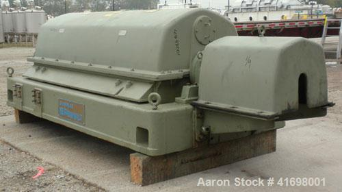 Used- Sharples PM-55000 Super-D-Canter Centrifuge, 317 Stainless Steel Construction (Product Contact Areas). Maximum bowl sp...