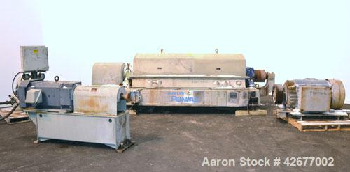 Used- Sharples PM-75000 Super-D-Canter Centrifuge. 316/317 Stainless steel construction on product contact areas. Maximum bo...