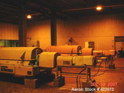 USED: Sharples PM-75000 Super-D-Canter centrifuge. 316/317 stainless steel construction on product contact areas, max bowl s...