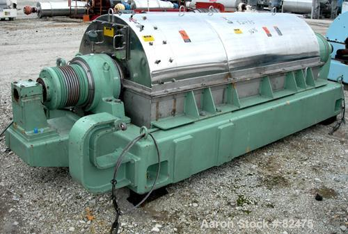 USED: Tomoe/Sharples PM-75000 Super-D-Canter centrifuge, 316 stainless steel construction on product contact areas. Max bowl...