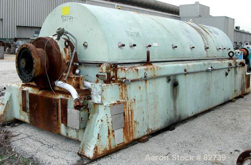 USED: Sharples PM-85000 Super-D-Canter Centrifuge, 316 stainless steel construction on product contact areas. Max bowl speed...